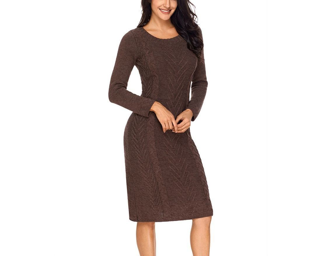 Knitwear Dress for Work with Long Sleeves
