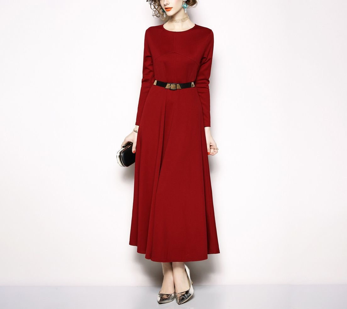 Tea Length Knit Dress for Work or Cocktails