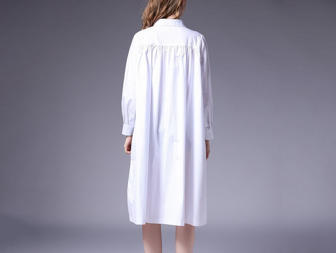 Belted Coat in Woven Cotton Fabric
