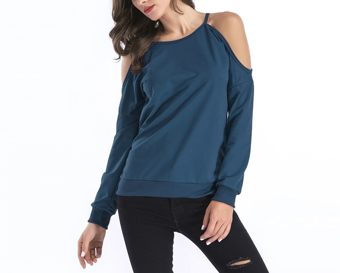 Cold Shoulder Casual Knit Top