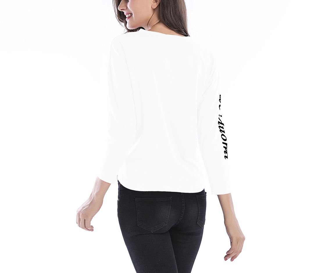 Knit Top with Cropped Front and Classic Back
