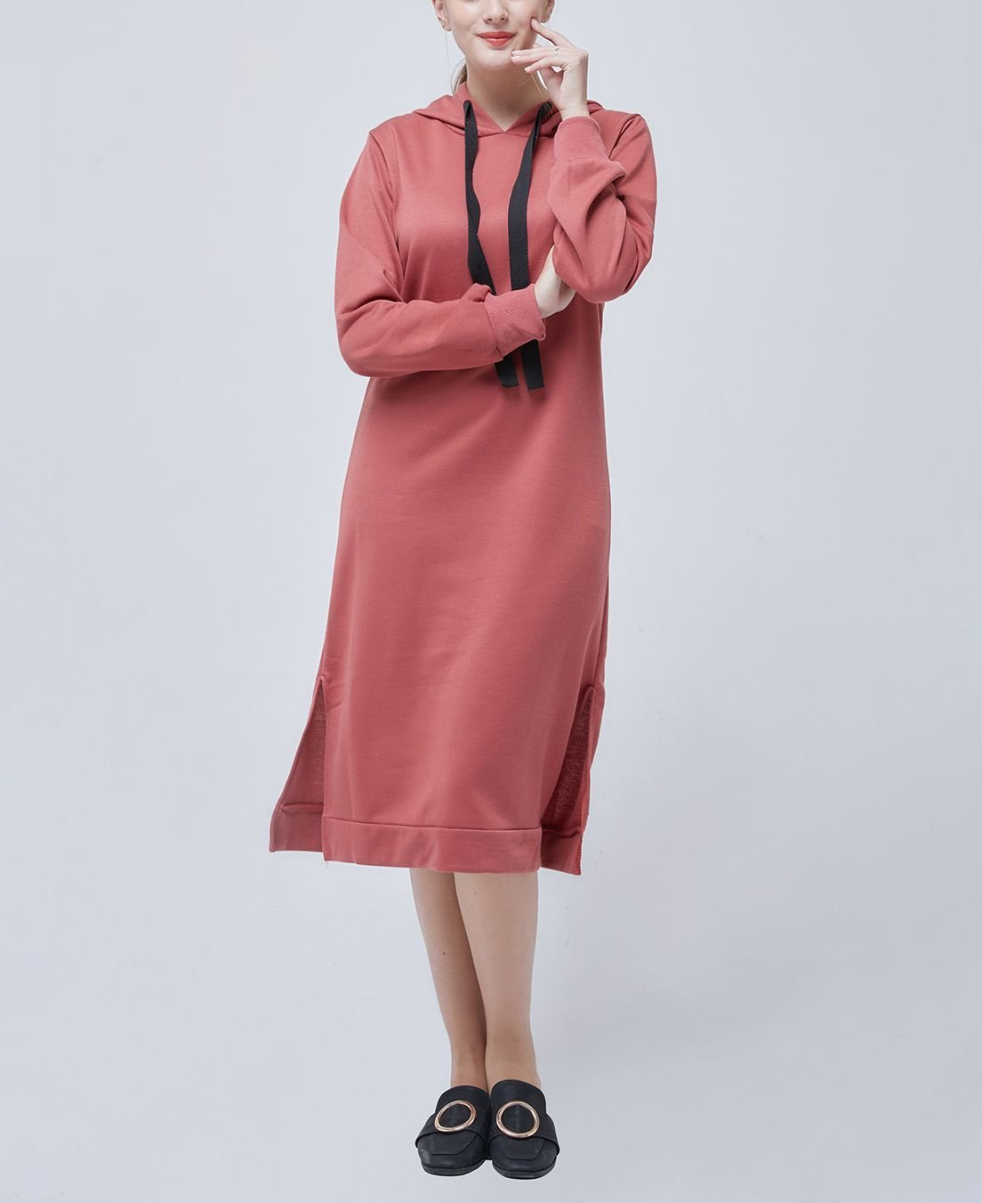 Mid-Calf Hoodie Casual Dress from Wei Clothing