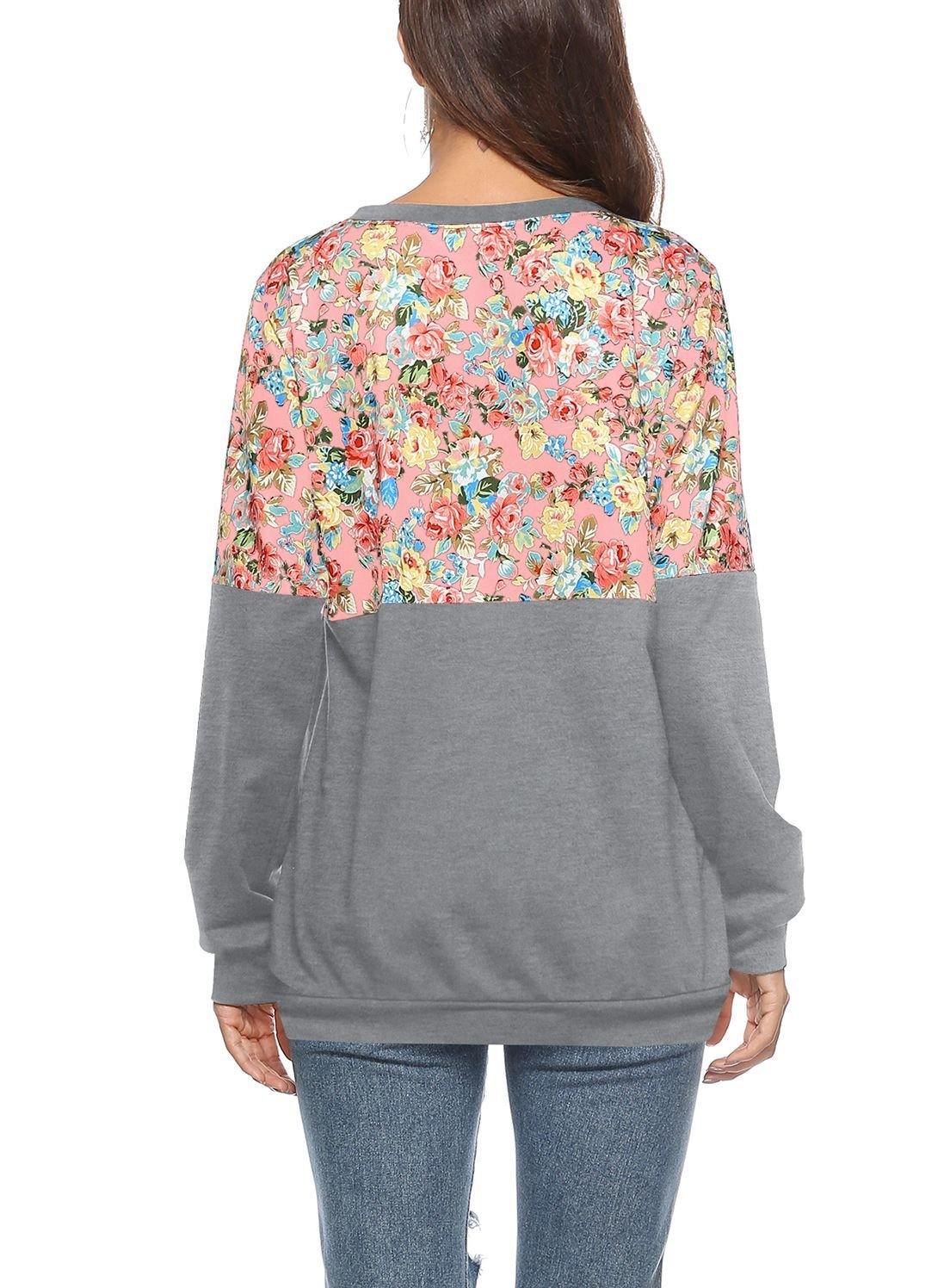 Knit Top with Floral Panel