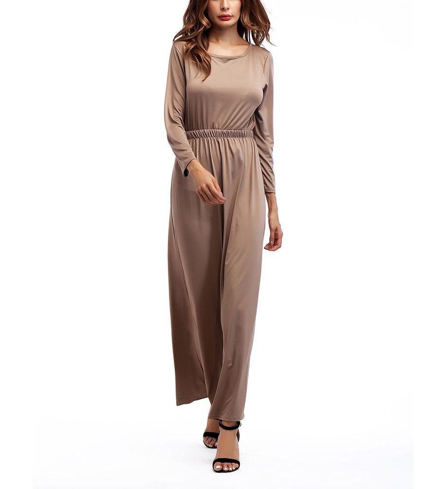 Knit Formal Dress with Wide Elasticized Waistline