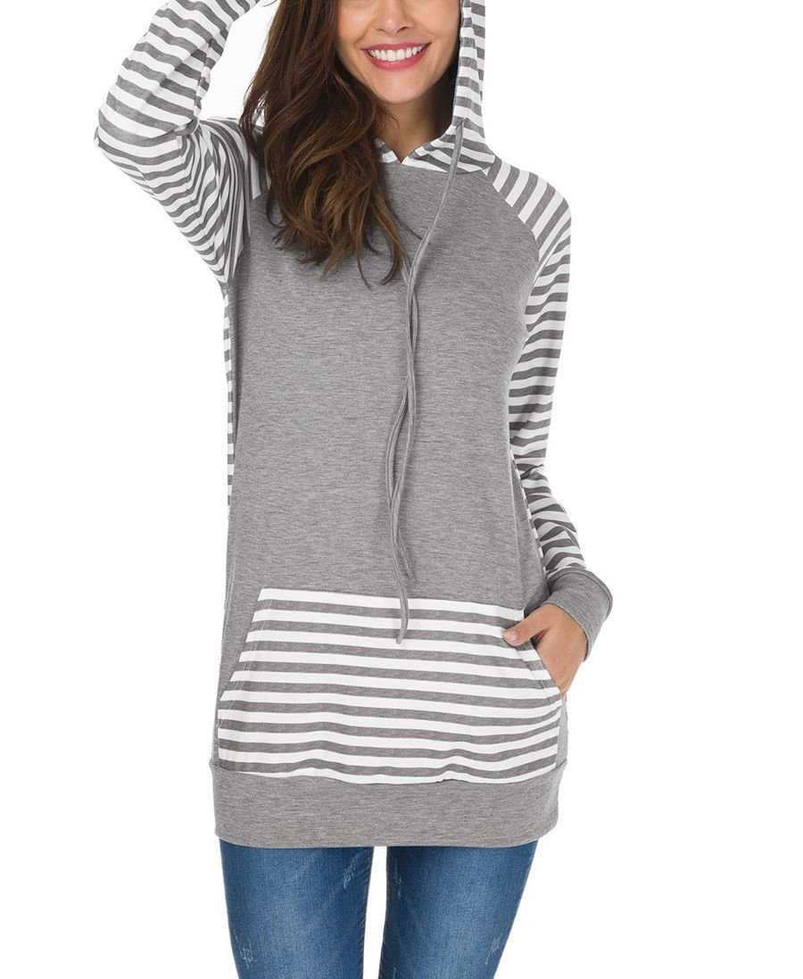 Hoodie Top with Raglan Sleeves and Kangaroo Pocket