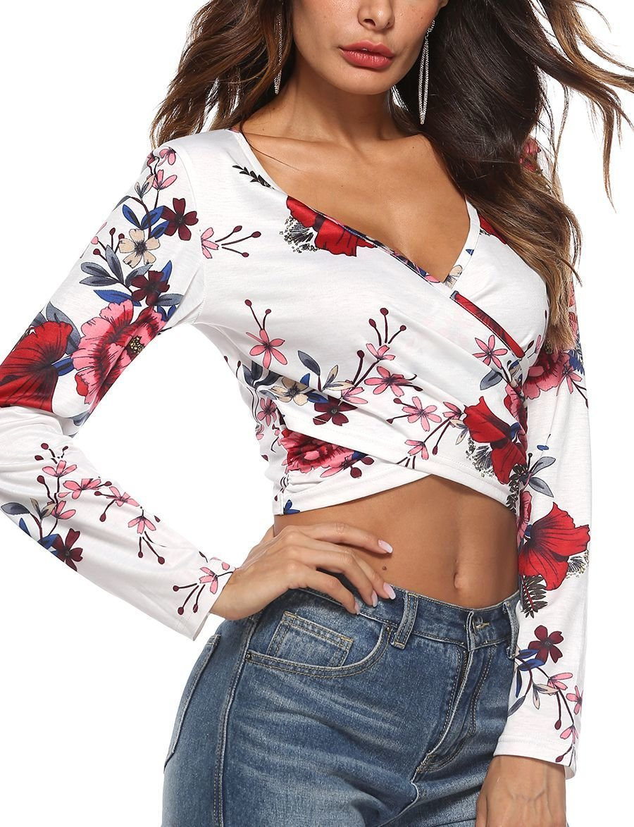 Cropped Top with Wrapped Front