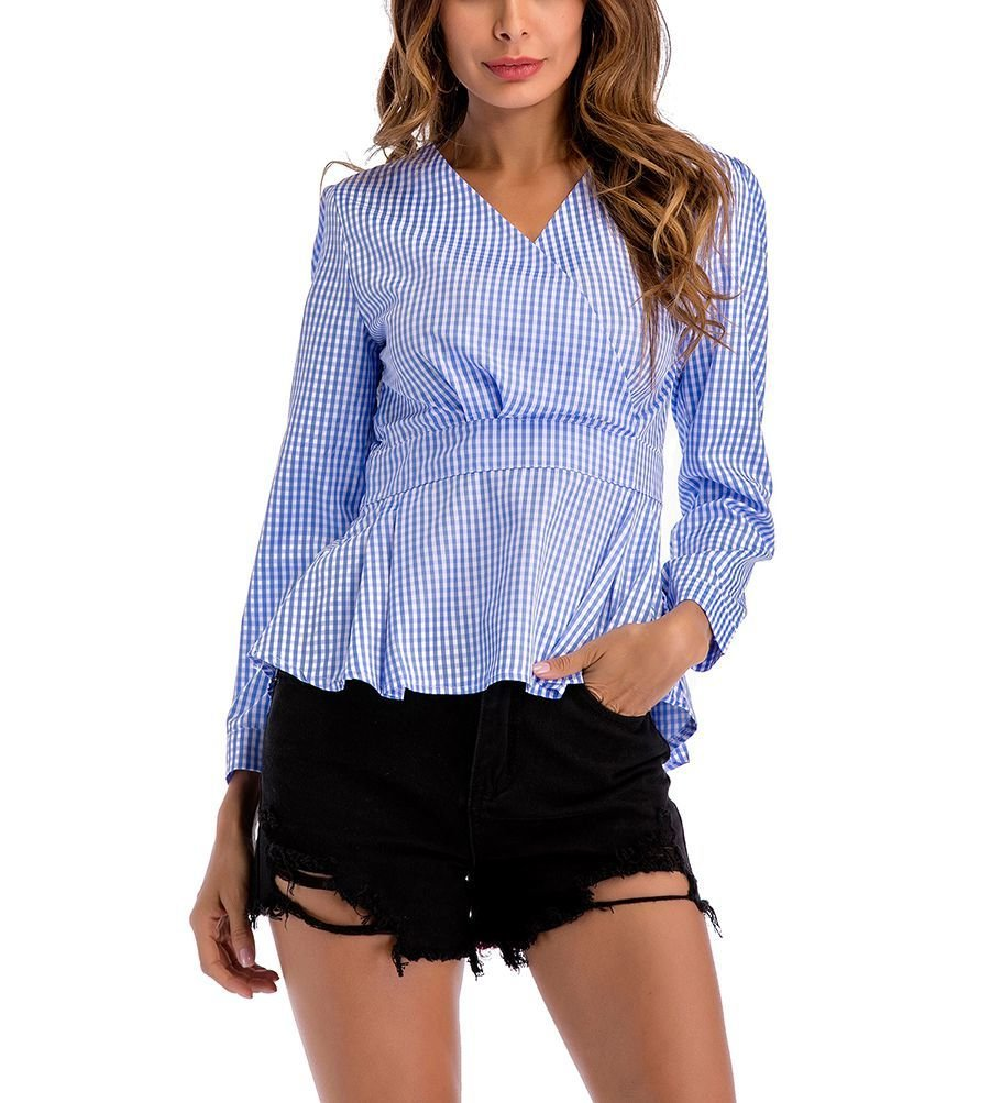 Peplum Top with Long Sleeves