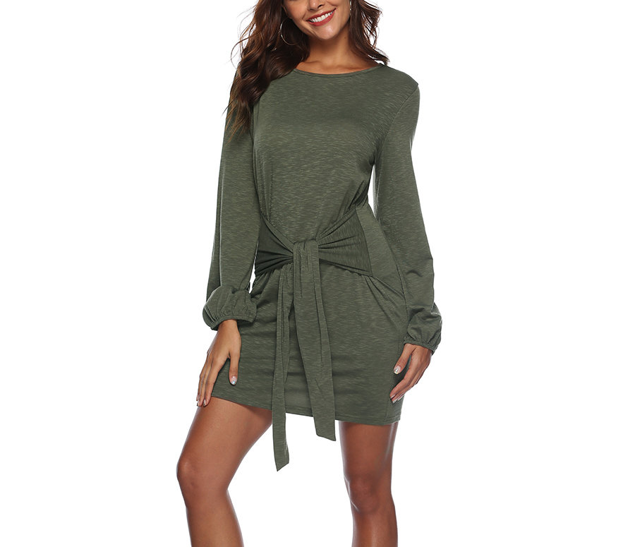 Knit Cocktail Dress with Adjustable Front Tie