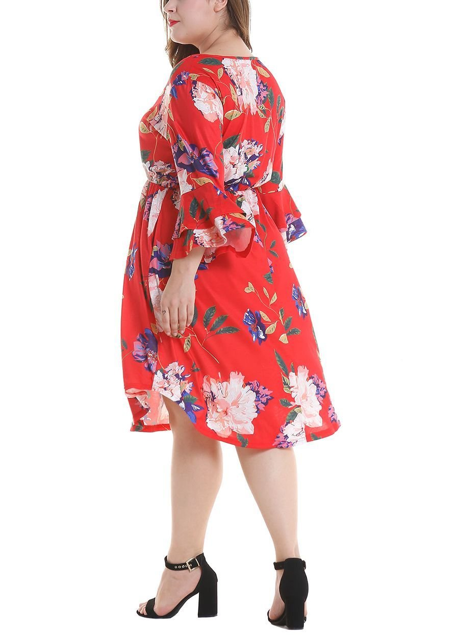 Cocktail Dress with Ruffled Sleeves
