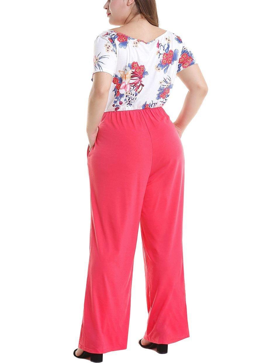 Plus Size Jumpsuit with 2-Piece Look