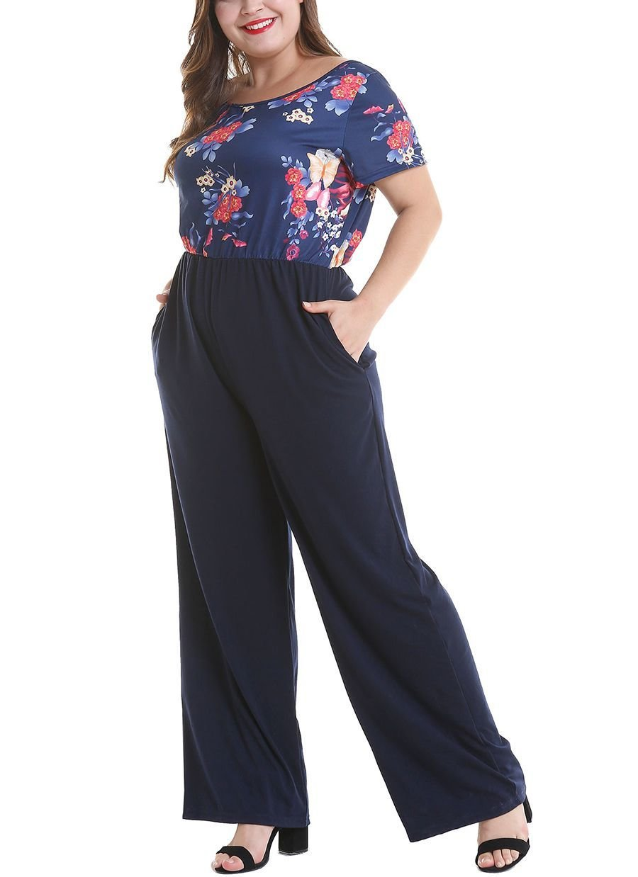 Plus Size Jumpsuit with 2-Piece Look