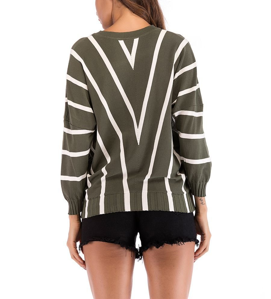 Striped Pullover Knit Top