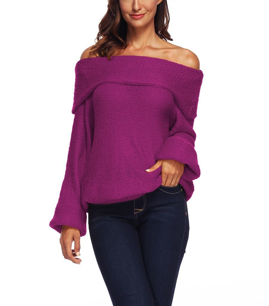 Off Shoulder Top with Deep Cuff Collar