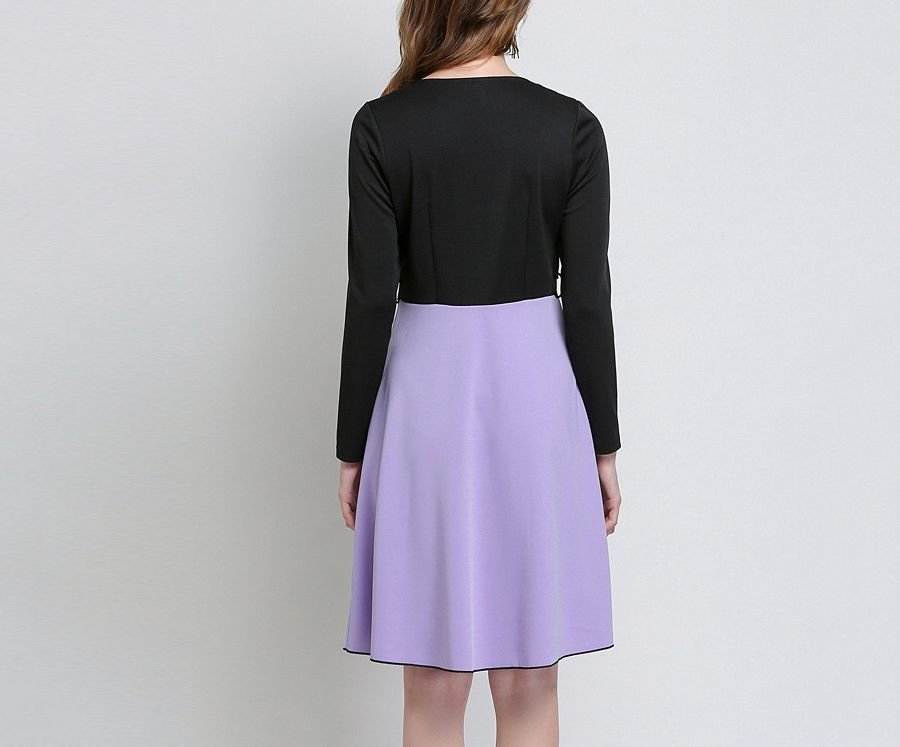Belted Work Dress with Two-Piece Look