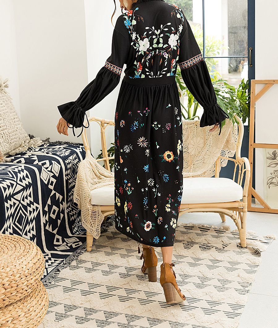 Maxi Casual Dress with Boho Style