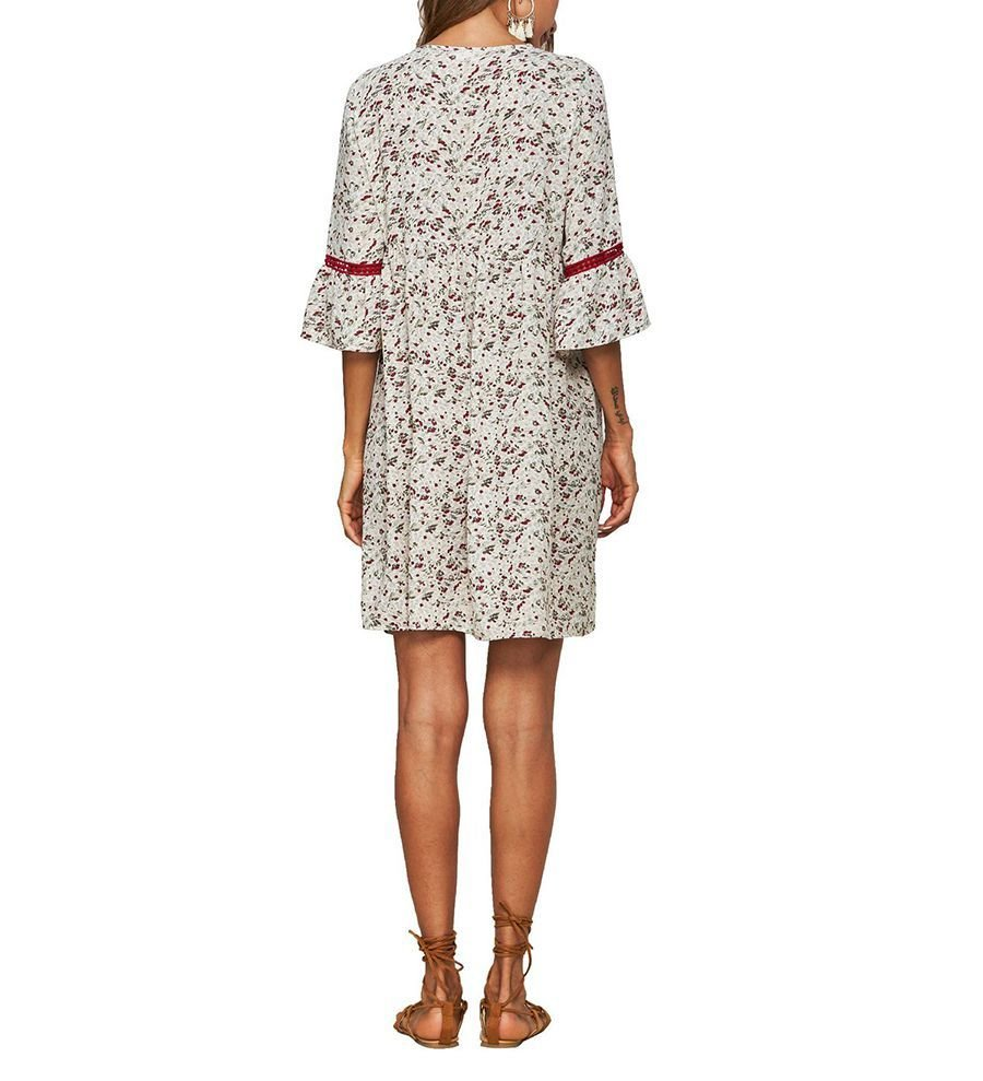 Short Casual Dress in Synthetic Cotton Print