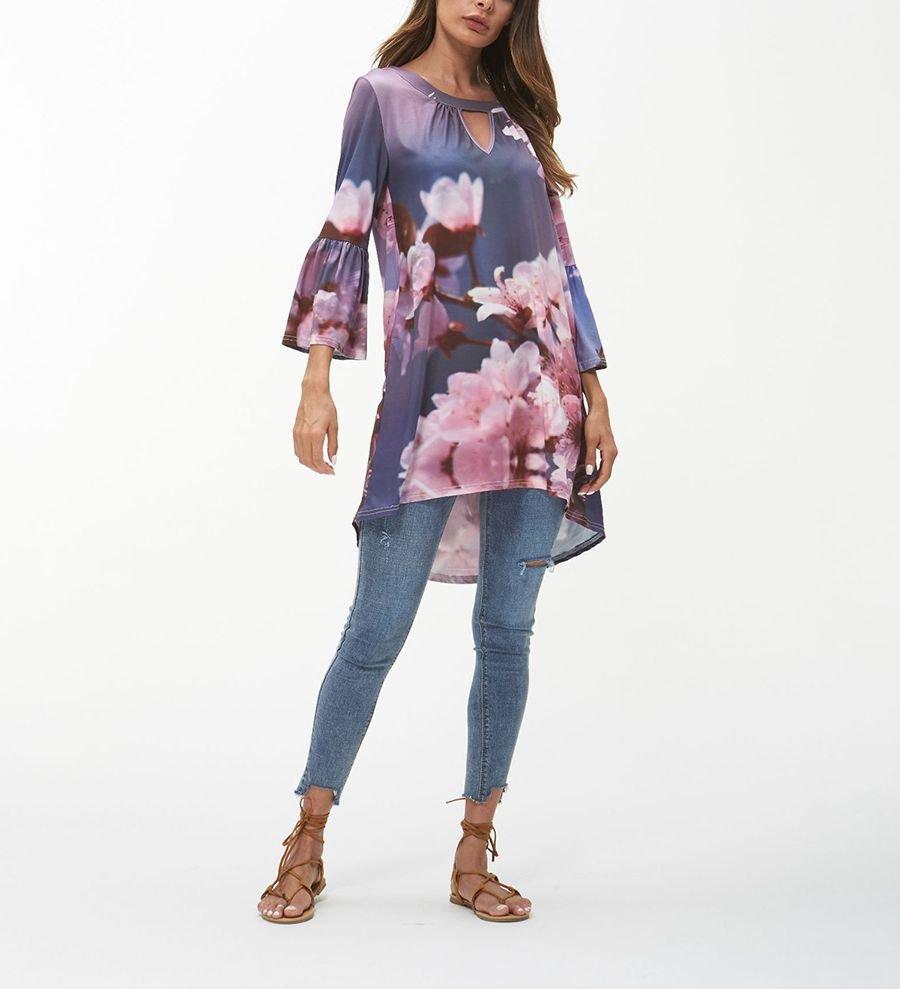 Tunic Top or Mini Dress with High-Low Hemline