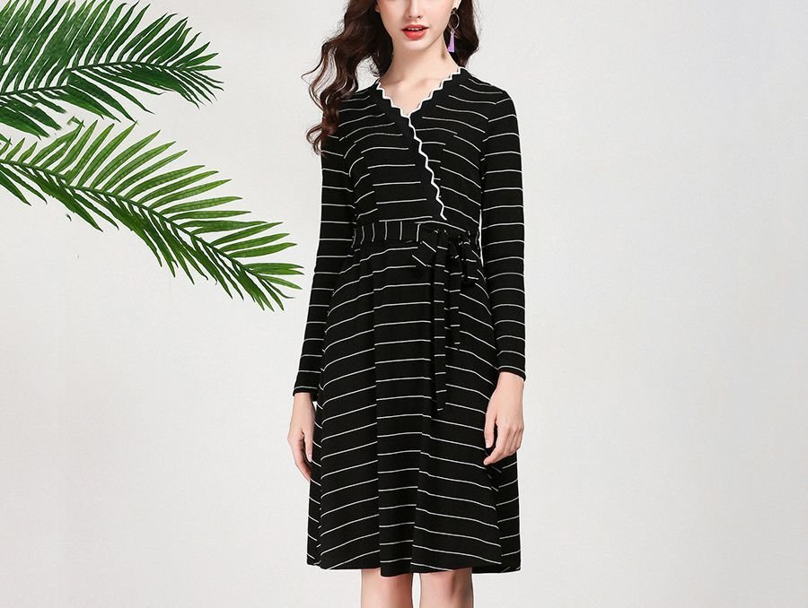 Knit Dress for Work in Plus Sizes
