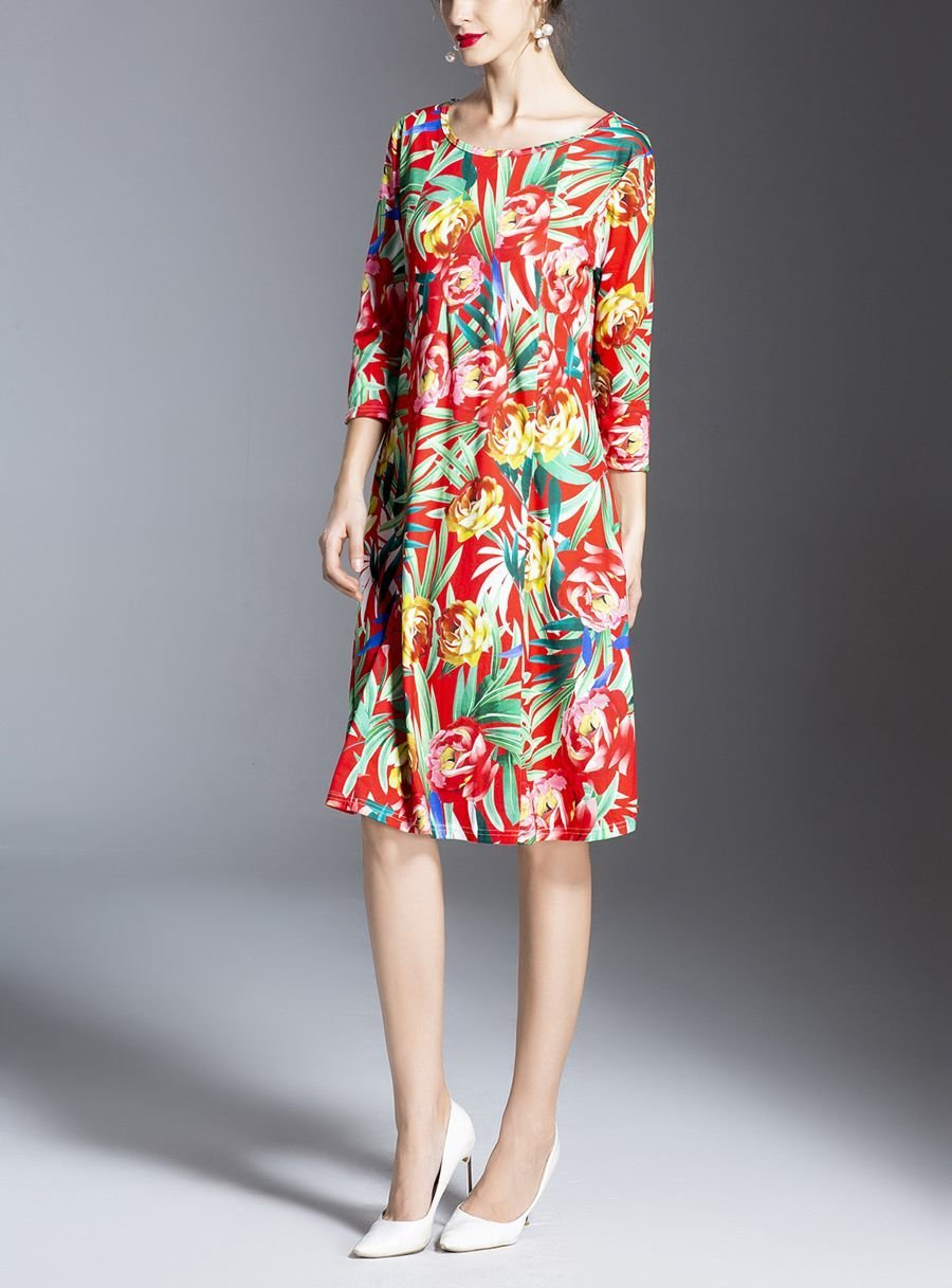 Plus Size Work Dress In Floral Print