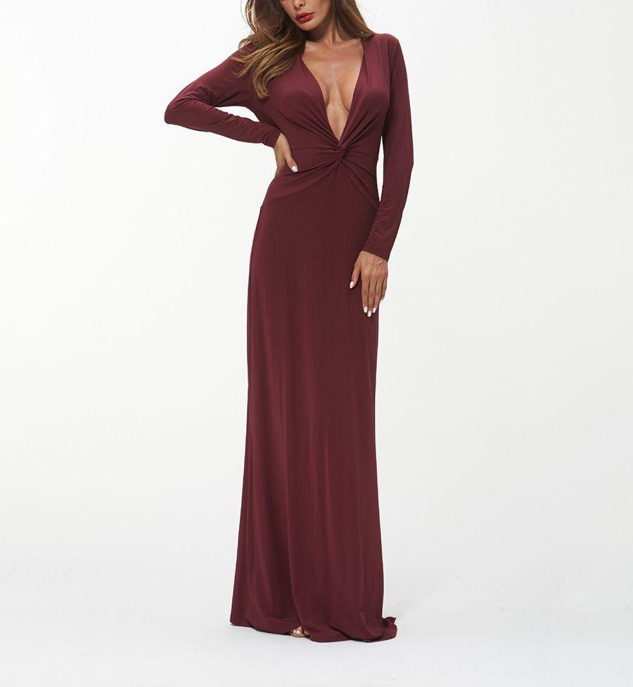 Formal Dress in Imitation Milk Silk Fabric
