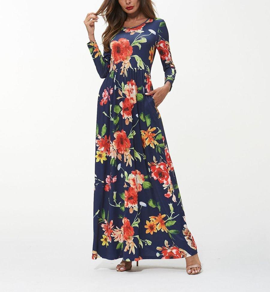 Imitation Milk Silk Formal Dress with Scoop Neckline