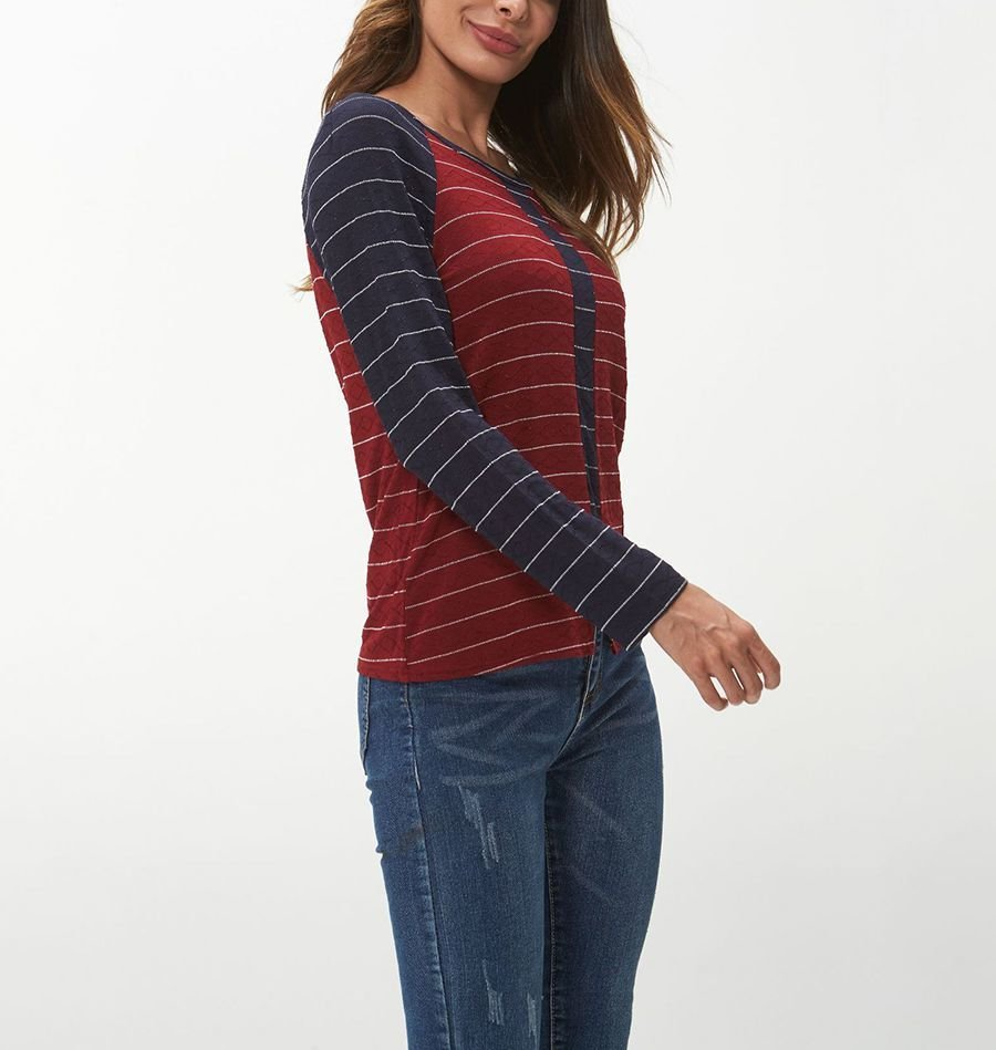 Knit Top with 2-Piece Look
