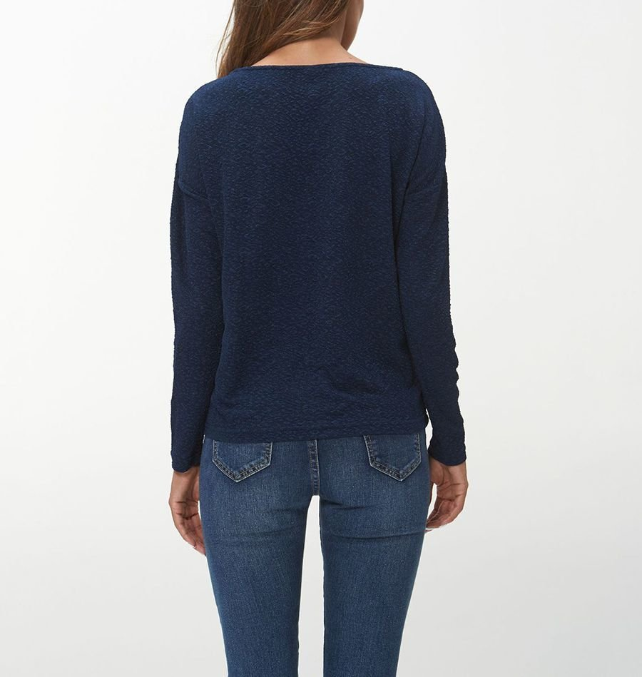 Knit Top with Grommets and Lacing at Hem