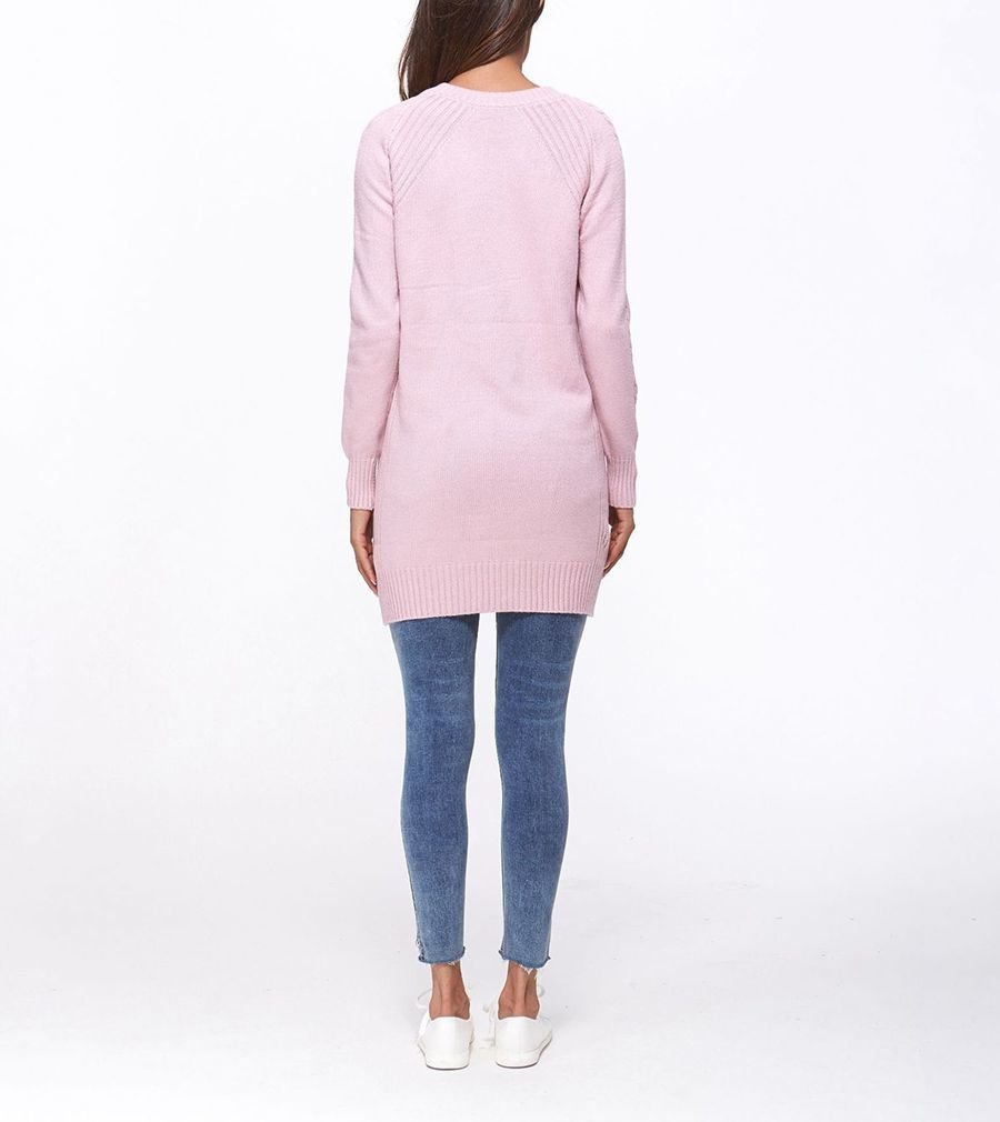 Mini Sweater Dress with Long Sleeves