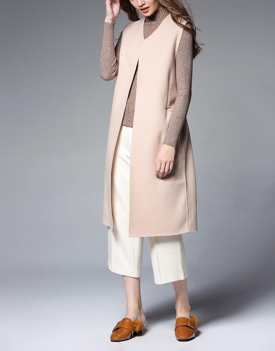Cashmere Blend Sleeveless Coat
