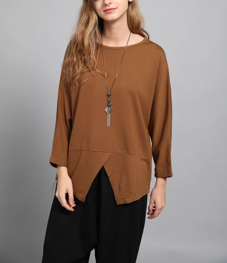 Scoop Neck Top with Fitted Peplum