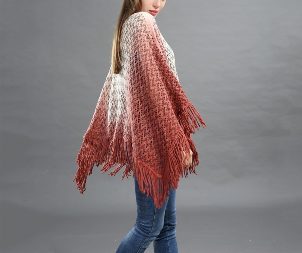 Knitted Lace Sweater with Poncho Styling