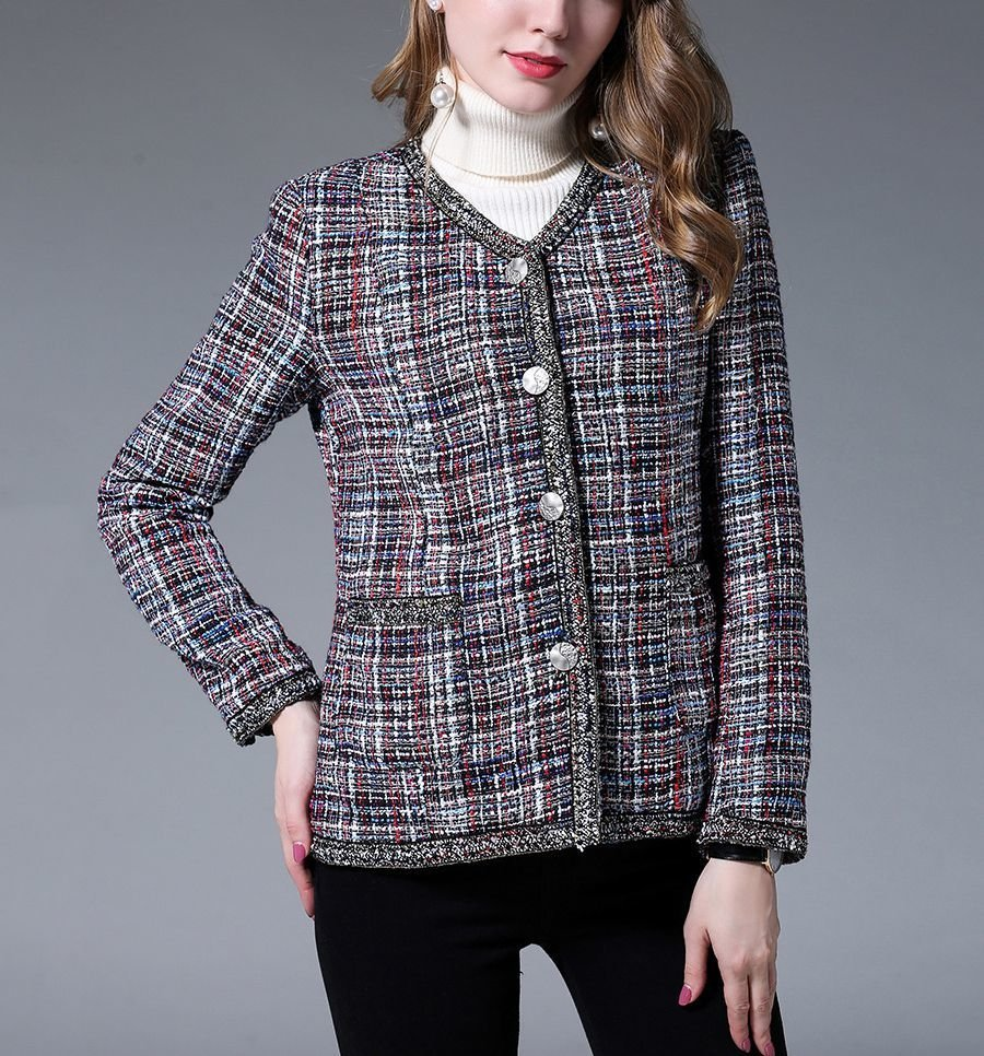 4-Button Cardigan Jacket