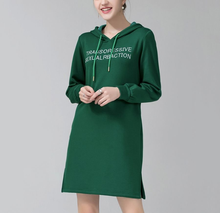 Hoodie Dress with Pockets