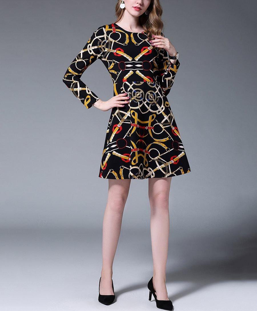 Casual Dress in Modern Print