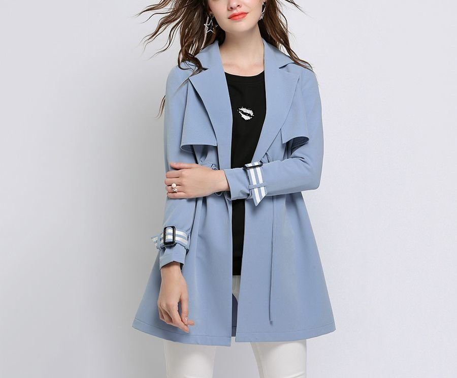Tailored Trench Coat in Shorter Length