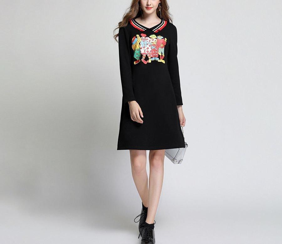 Clown Print Casual Dress