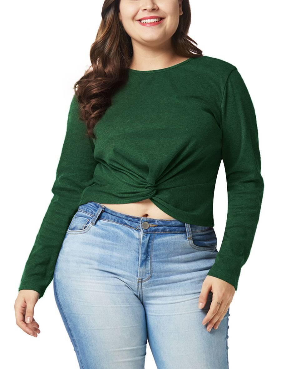 Cropped Top with a Twist