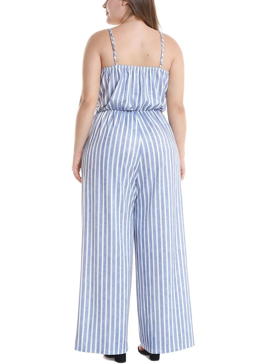 Jumpsuit with Spaghetti Straps and Pockets