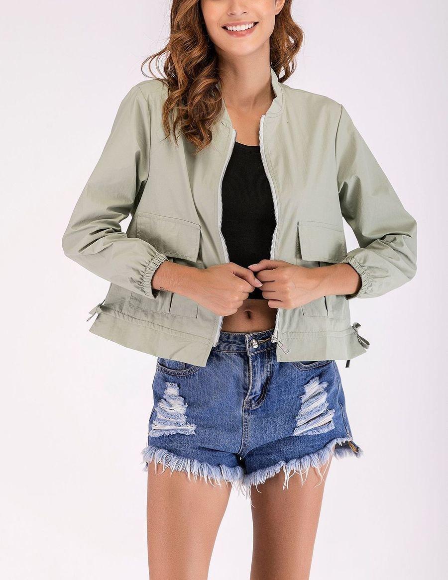 Short Jacket with Cargo Pockets