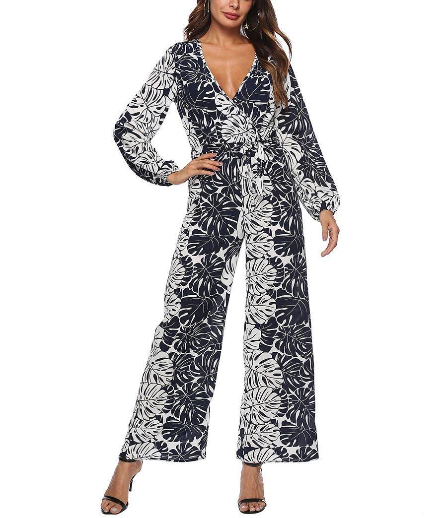Wrap-Style Chiffon Jumpsuit