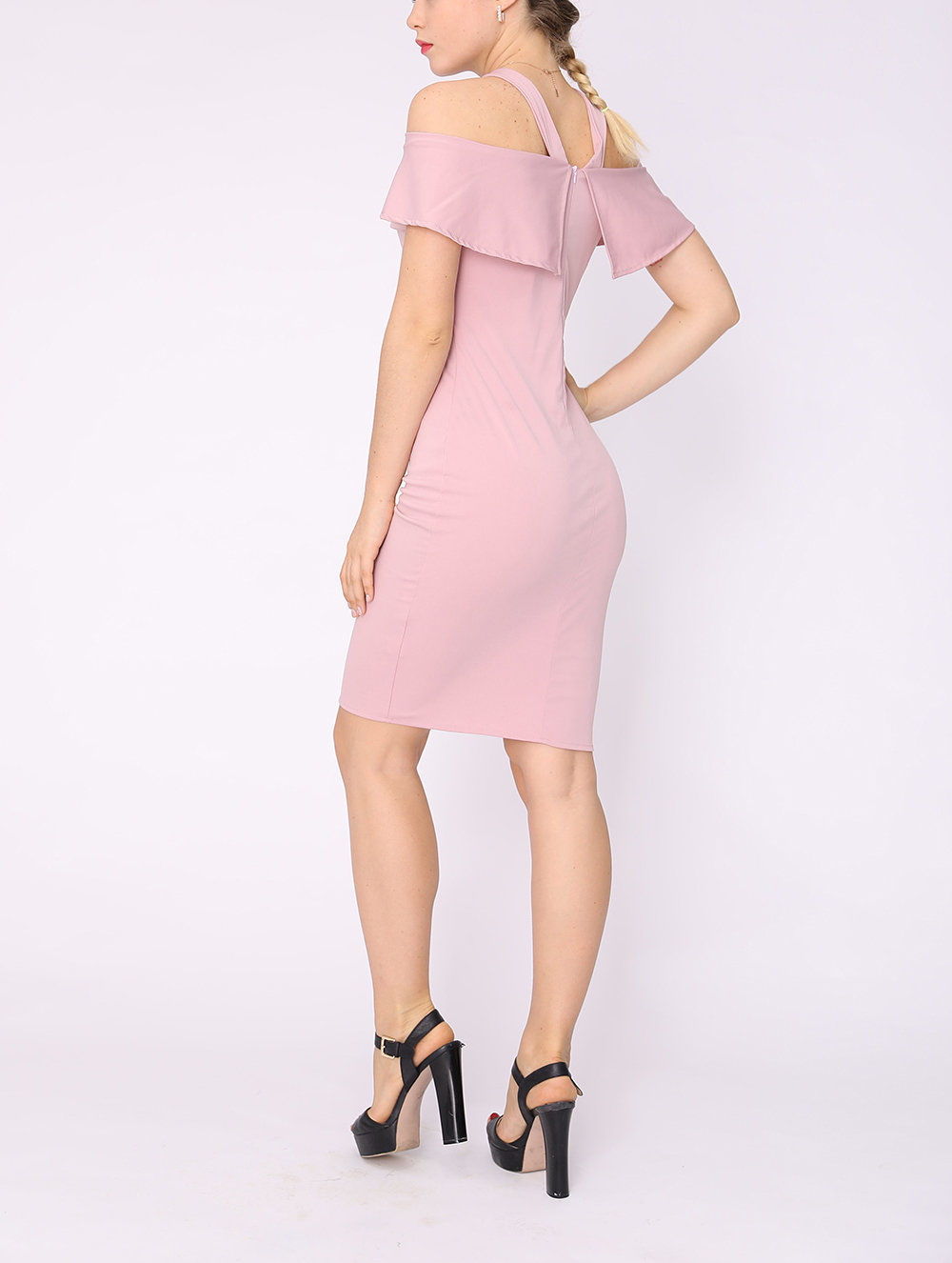 Off-Shoulder Cocktail Dress with Bodycon Fit