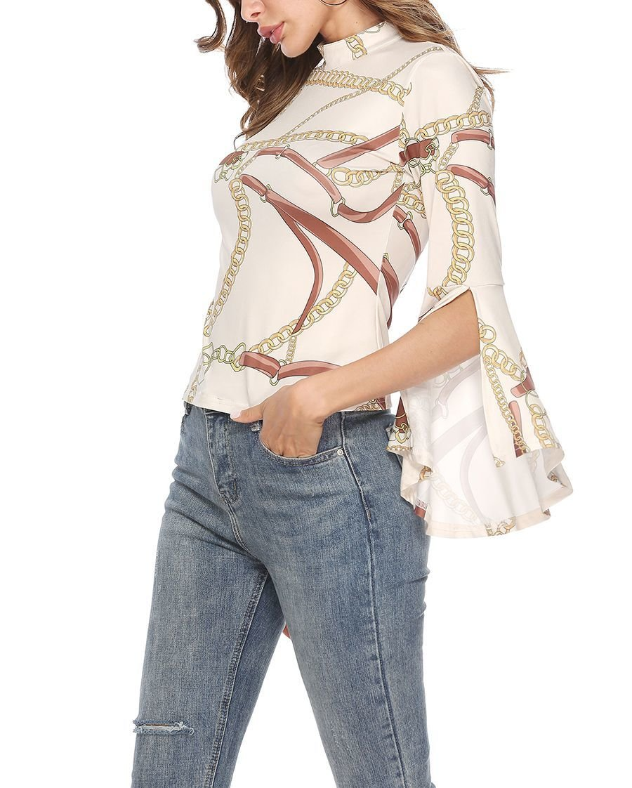 Knit Top with long, Slit Sleeves