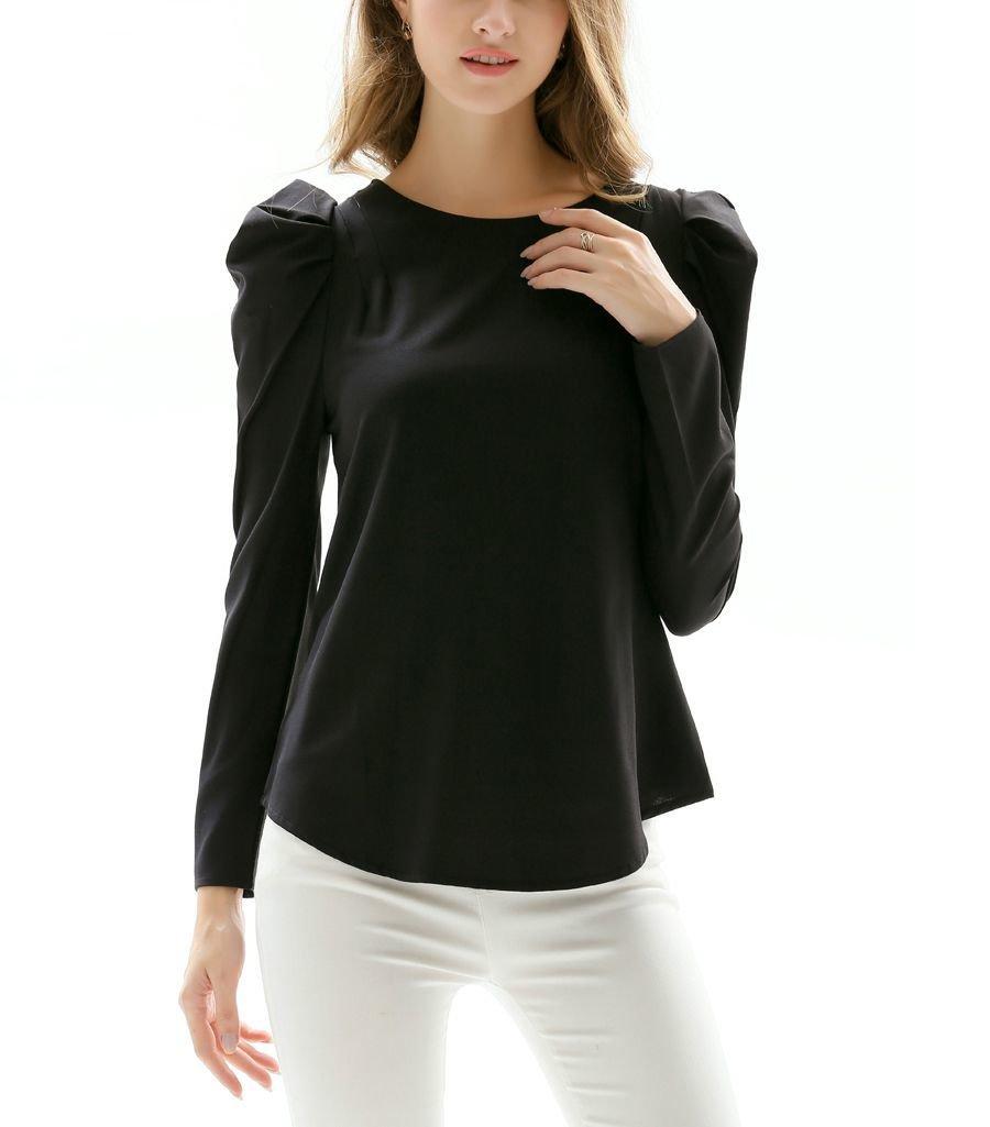 Long-Sleeved Top with Dressmaker Details