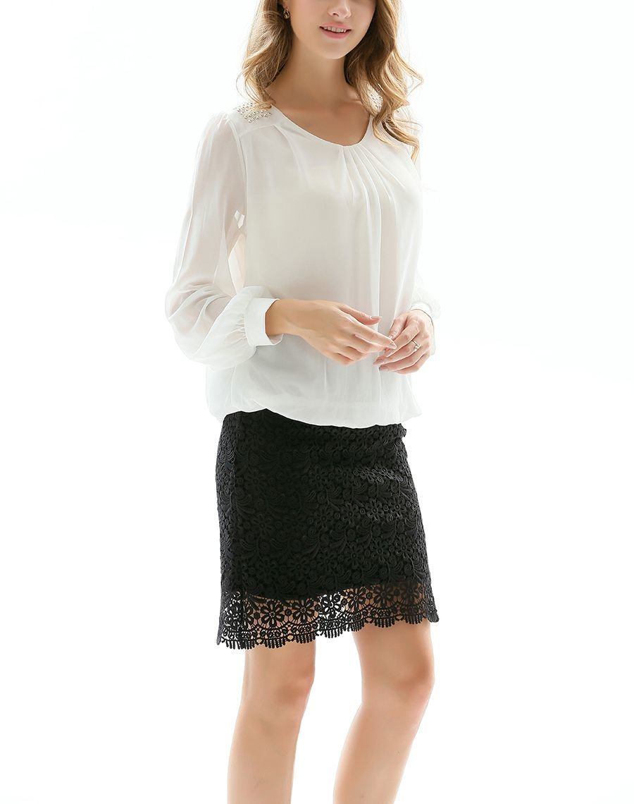 Chiffon Top with Sparkling Studs