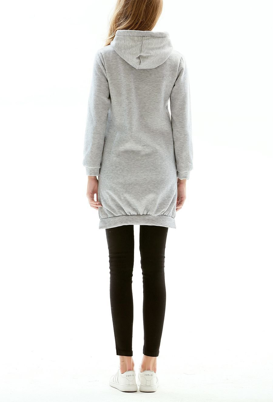 Hoodie Top with Long Back