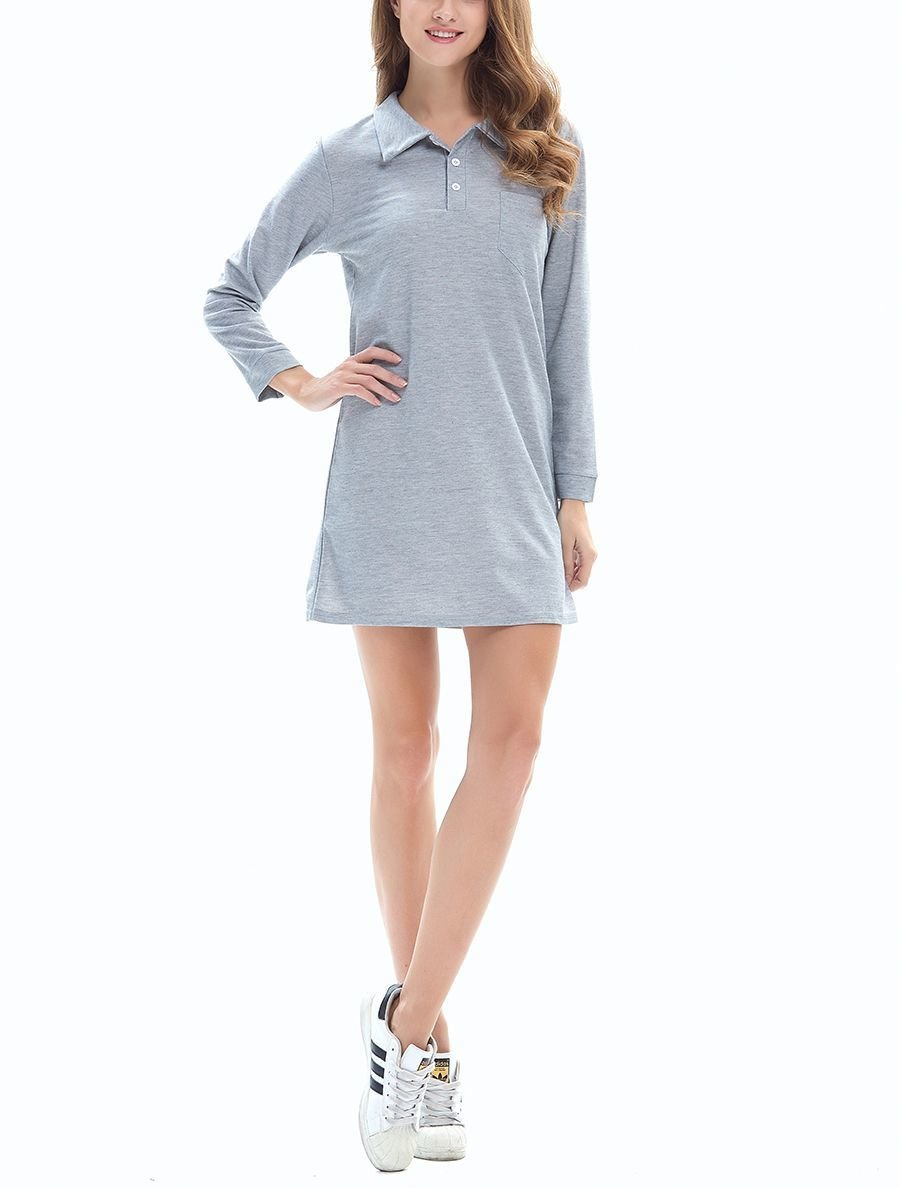 Polo Style Casual Dress
