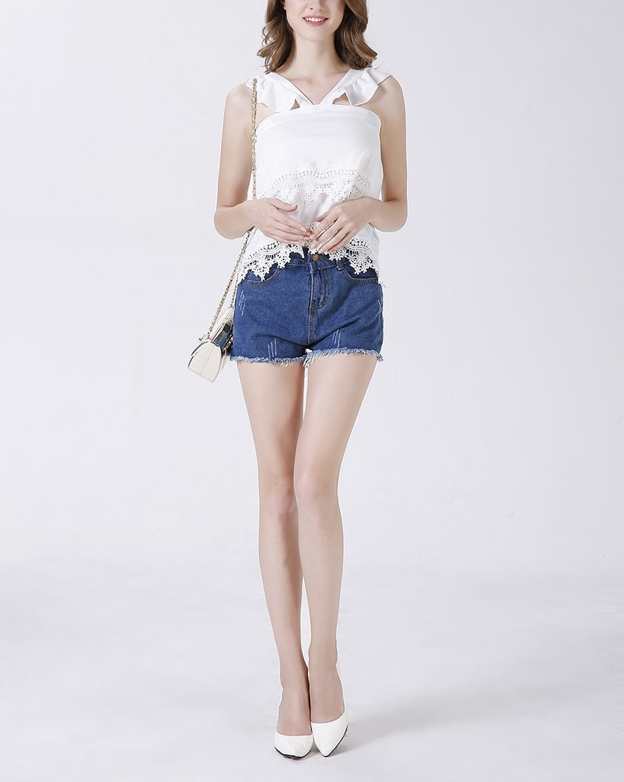 Summer Lace Top with Pinafore Straps