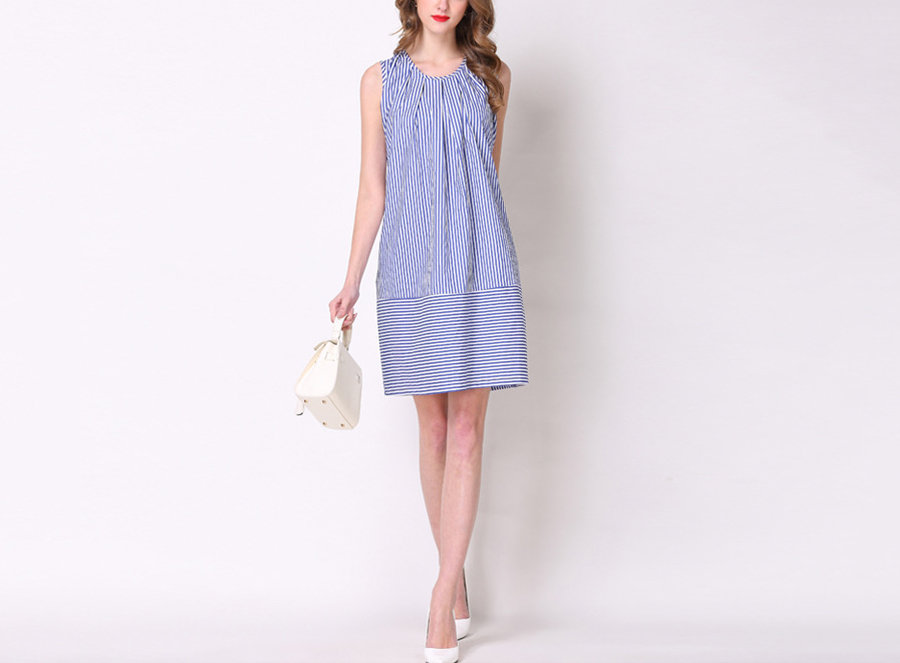 Sleeveless Casual Dress with Back Ties