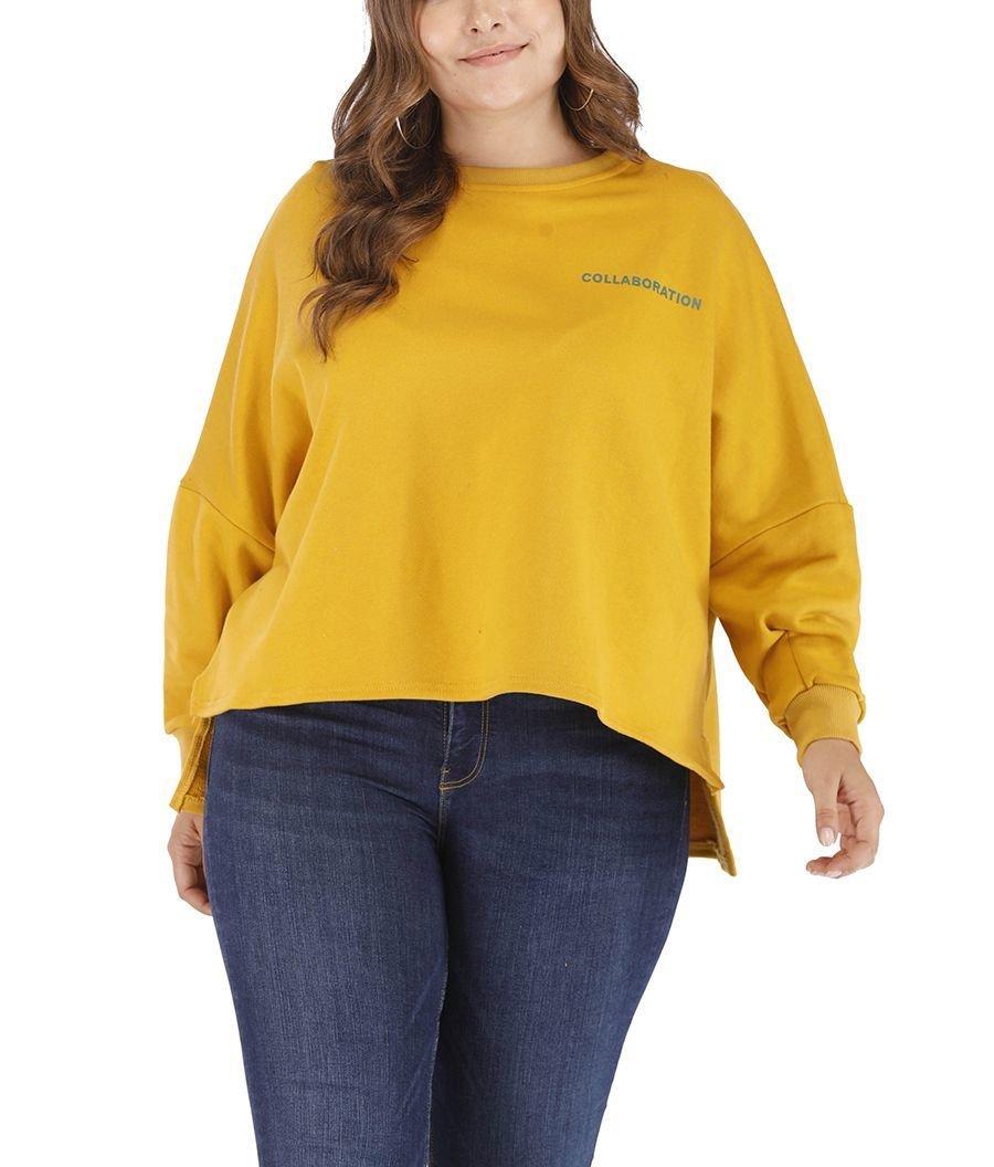 Plus Size Sweatshirt Top