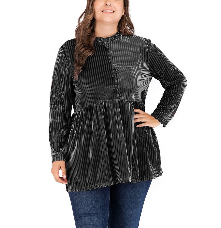 Clever Corduroy Tunic Top